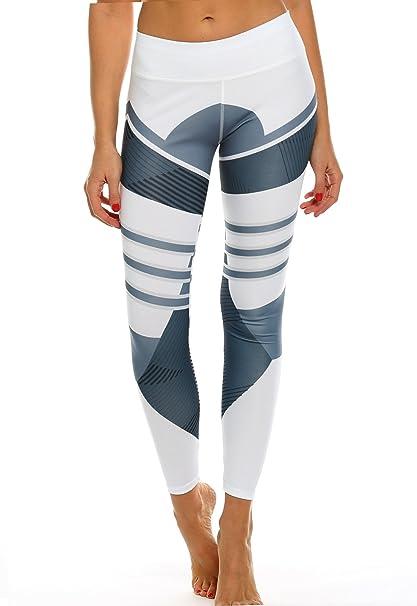 Mallas Pantalones Deportivos Leggings Mujer Yoga de Alta ...
