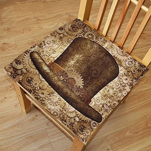 Nalahome Set of 2 Waterproof Cozy Seat Protector Cushion Victorian Decor Collection Steampunk Top Hat as a Science Fiction Concept Made of Metal Copper Gears and Cogs Image Go Printing - Cog Sunglasses