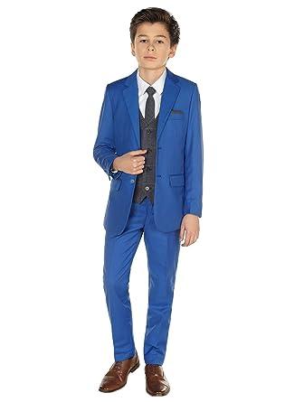 4ea707f58 Paisley of London niño en Azul Traje