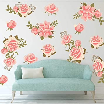 Yellow Rose Flower Decals Stickers Graphics Nursery Wall Window Decoration Art