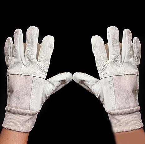 Luz de soldadura de mano de obra guantes de protección, usar equipo de protección gruesa