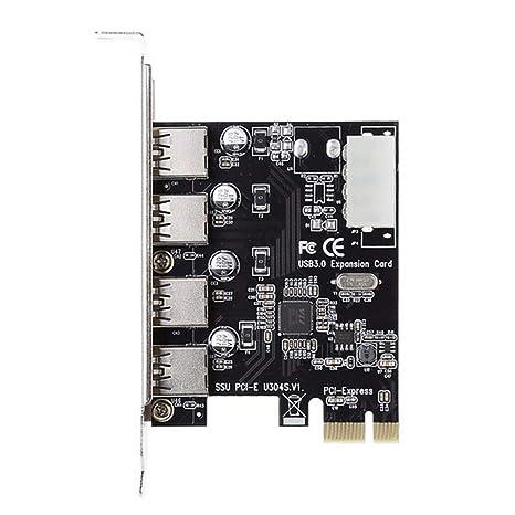 PRENKIN 4 USB 3.0 Tarjeta de expansión PCI E Adaptador de ...