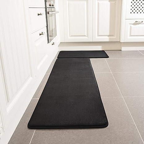Kitchen Rug Set Leevan Memory Foam Kitchen Comfort Mat Super Soft Rug Microfiber Flannel Area Runner Rugs Non Slip Backing Washable Bathroom Rug Set