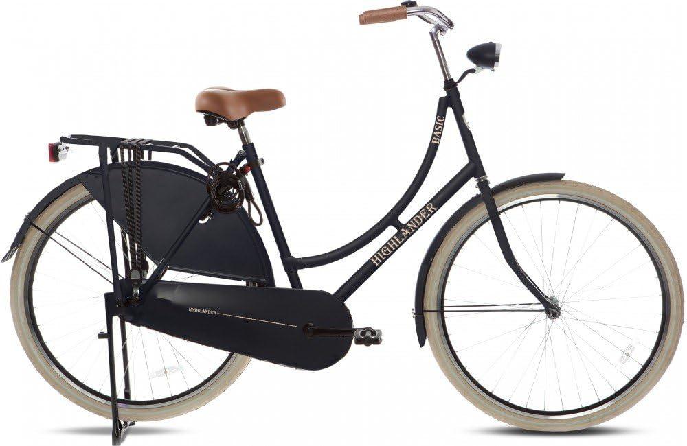 "Highlander - Bicicleta holandesa 28"" negra mate: Amazon.es ..."