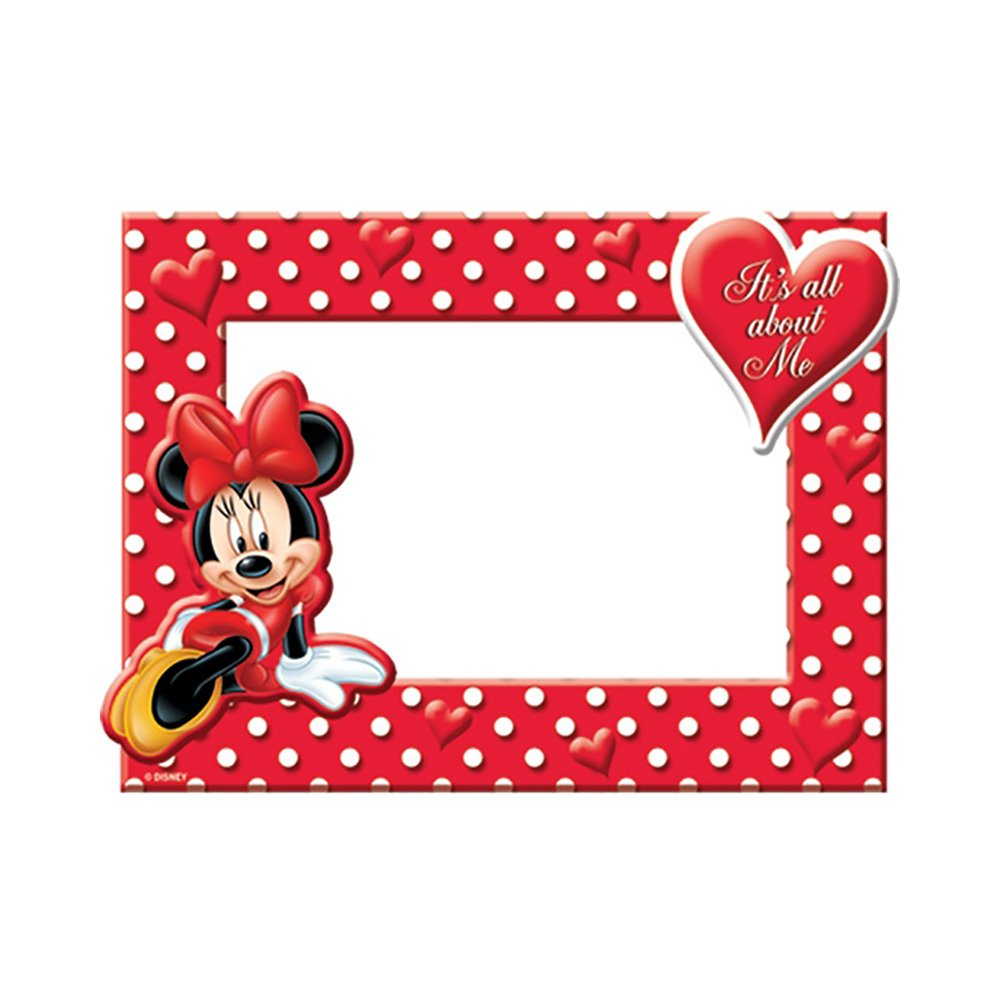 amazoncom disney minnie mouse all about me picture frame single frames - Disney Picture Frames