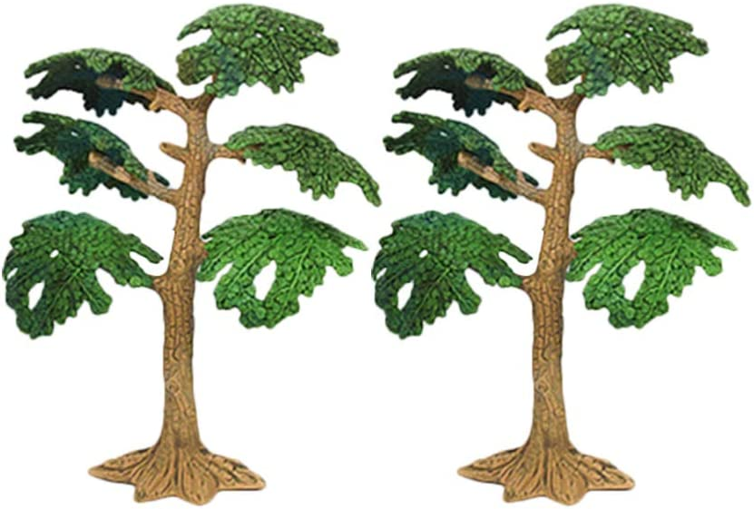 NUOBESTY Micro Landscape Accessories Miniature Tree Mini Pine Tree Cypress Model Vivid Fake Tree for Dollhouse Fairy Garden Decor 3pcs Size M
