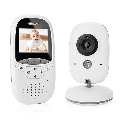 """YISSVIC Vigilabebes con Cámara Visión Nocturna 2,4"""" LCD Inalámbrico Monitor para Bebé con"""