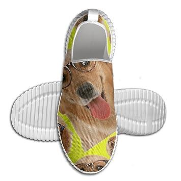 Golden Retriever Men Slip-On Sneakers Fashion Lightweight Tennis Loafers