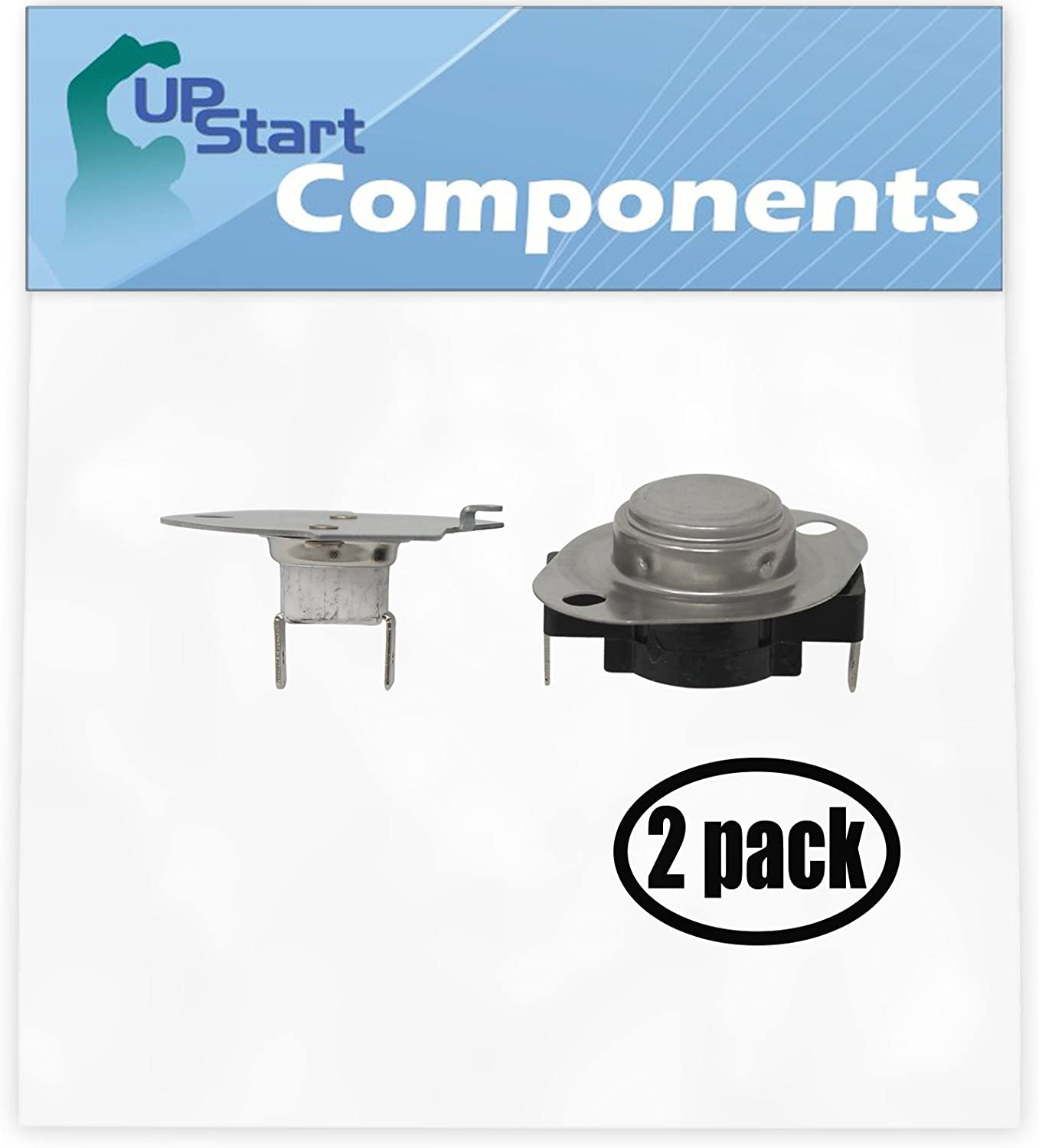 2 Pack Replacement 279769 Thermal Cut-Off for Whirlpool LER7646AN0 Residential Electric Dryer