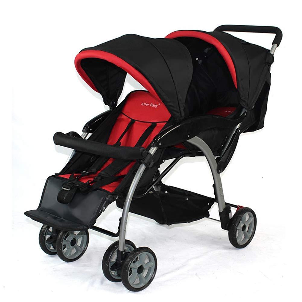 XUE - Cochecito Doble para bebé, para niños Grandes y pequeños ...