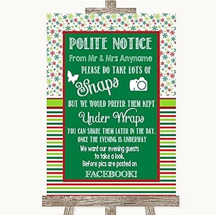 Red & Green - Cartel de boda de invierno, color rojo y verde ...