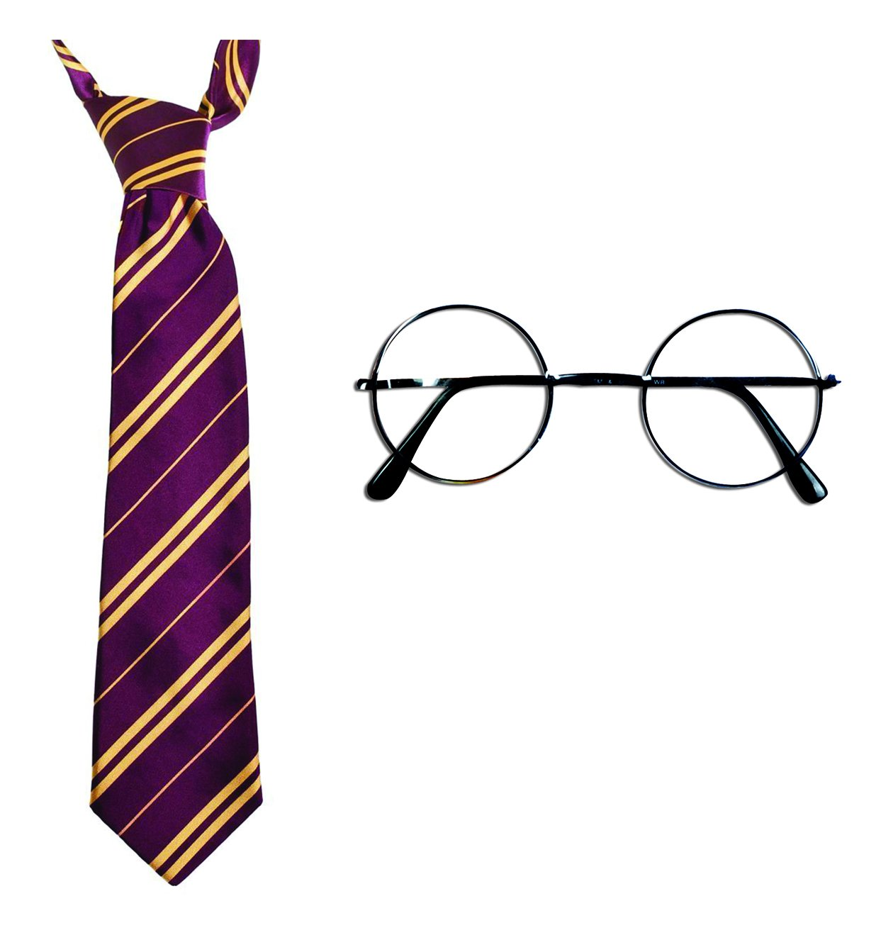 Harry Potter Halloween Costume accessories - Novelty Glasses and Gryffindor Tie