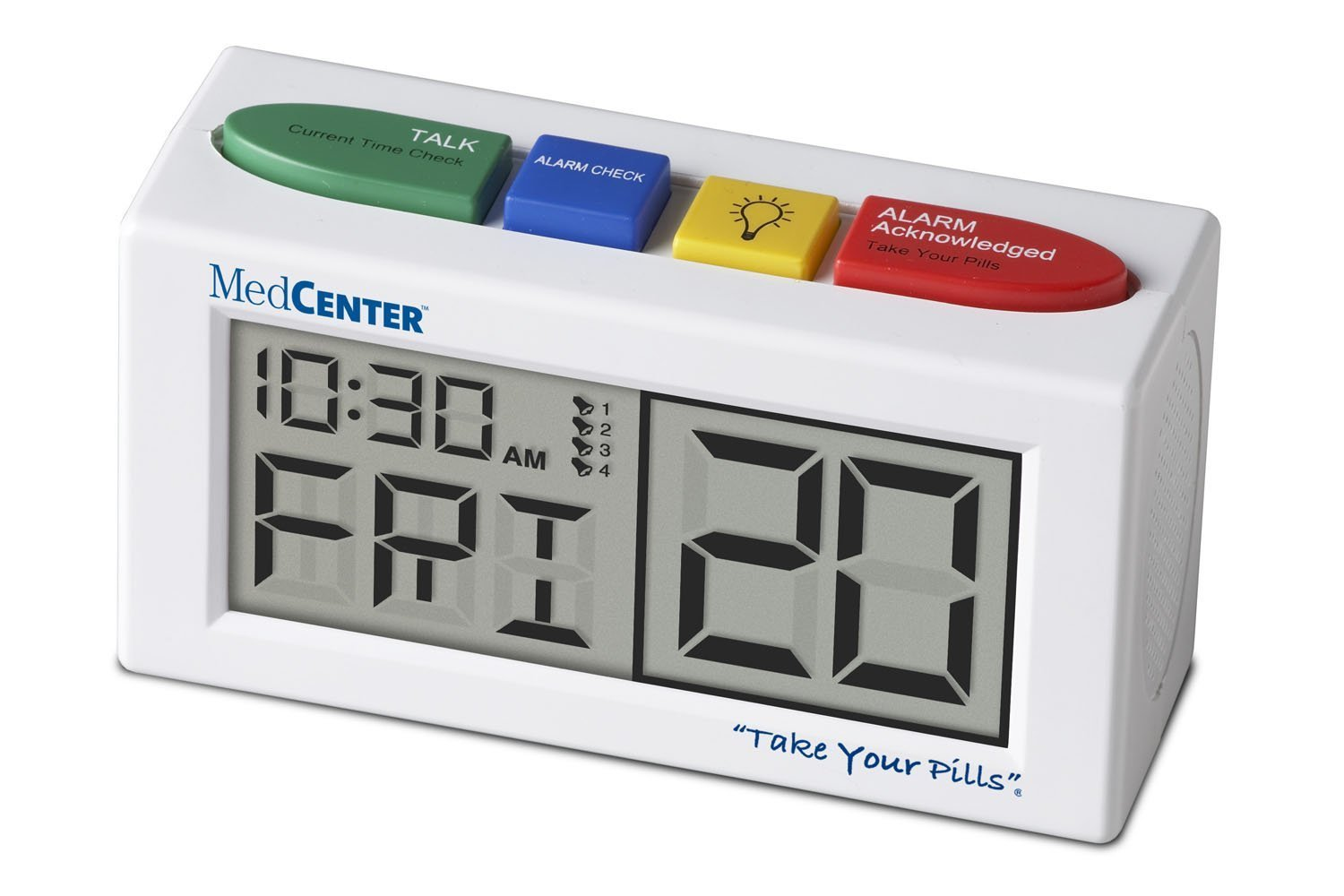 Medcenter Talking Alarm Clock And Medication Reminder Amazon