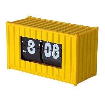 KHSKX Creative Flip Flop Modelo Mini Container contenedor Oficina Relojes Relojes Relojes Relojes Reloj de Escritorio: Amazon.es: Hogar