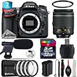 Holiday Saving Bundle for D7100 DSLR Camera + AF-P 18-55mm + 2yr Extended Warranty + 32GB Class 10 Memory Card + + 1, + 2, + 4 & + 10 Macro Filter Kit + UV Filter - International Version
