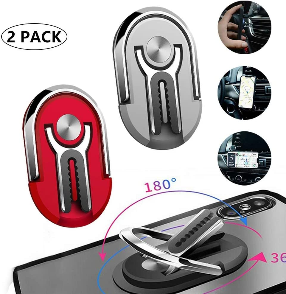 HIPIBEST Yoruii Multipurpose Mobile Phone Bracket Holder Phone Ring Holder Finger Kickstand Stand 360 Degree Rotation for Car Home Magnetic Car Mount with All Smartphone for Car