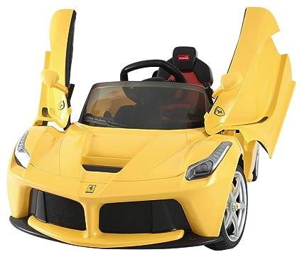 Amazon.com: Best Ride On Cars LA Ferrari 12V, Yellow: Toys & Games