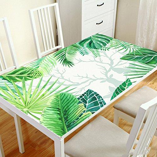 DONG Nappe Tissu Coureurs Table de Table Tissu Impression PVC étanche Anti-Hot-résistant à l'huile en Verre Souple Maison décoration Table à Manger Table Basse (Couleur   I, Taille   80  130cm)