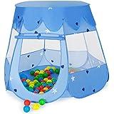 TecTake Tenda per bambini Tenda giocattolo + 100 palline colorate BLU