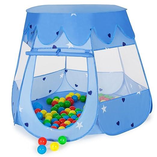 38 opinioni per TecTake Tenda per bambini Tenda giocattolo + 100 palline colorate BLU