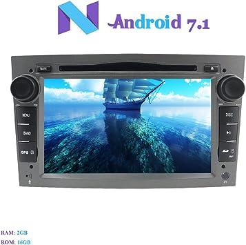 Android 7.1 Autoradio, Hi-azul 2 DIN Radio de Coche In-Dash Navegación GPS De Coche 7