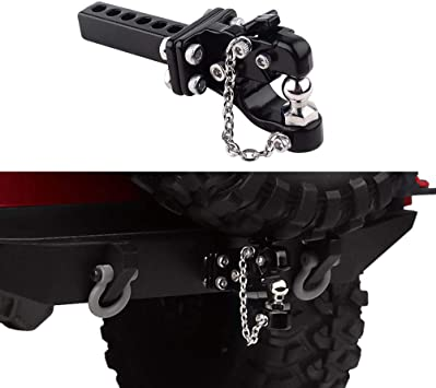 Metall Anhängerkupplung Empfänger Für 1//10 SCX10 Traxxas TRX4 90046 RC Autoteile