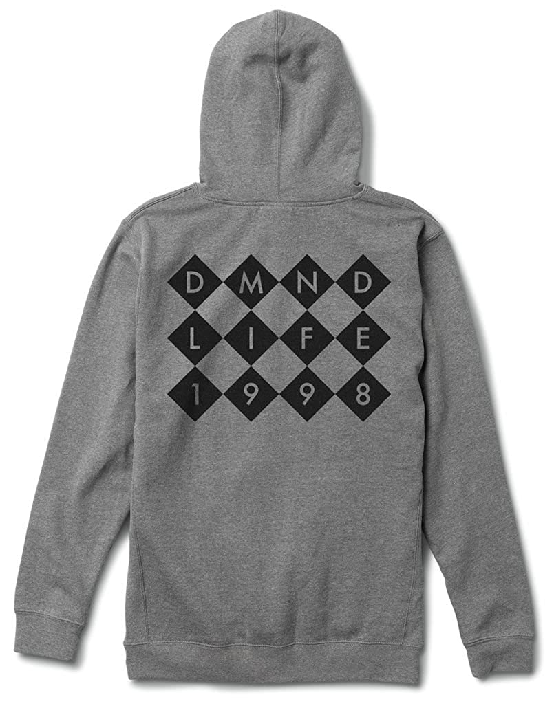 Diamond Supply Co Checkers Mens Pullover Hoodie Grey//Black a16dpf43-gunmetal