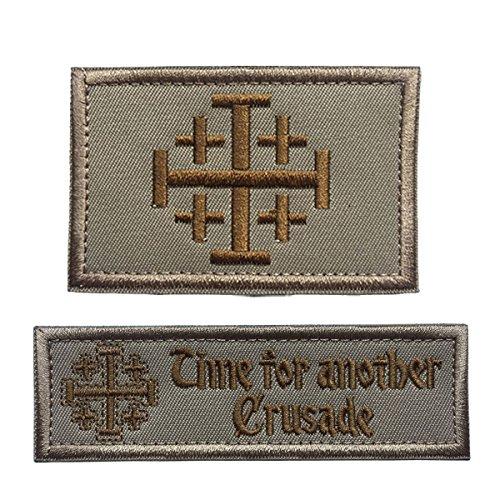 SpaceAuto Bundle 2 Pieces Jerusalem Cross Crusader 3.15
