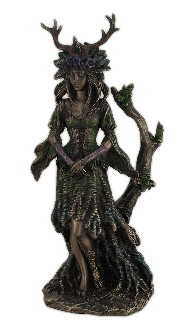 Guardian Goddess of the Trees Bronze Finished Statue JFSM.INC