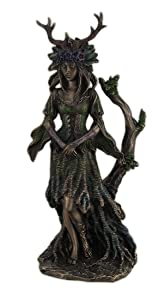 Veronese Design Guardian Goddess of The Trees Bronze Finished Statue