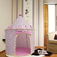 Pericross Cotton Pink Castle Play Tent Folding Princess Play Tent /Kids Playhouse Castle Game Play Ten,For Children Kids Indoor Outdoor Toy