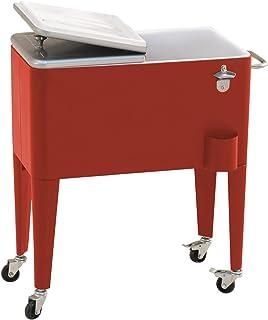 Sunjoy 60 Quart Red Steel Beverage Cooler
