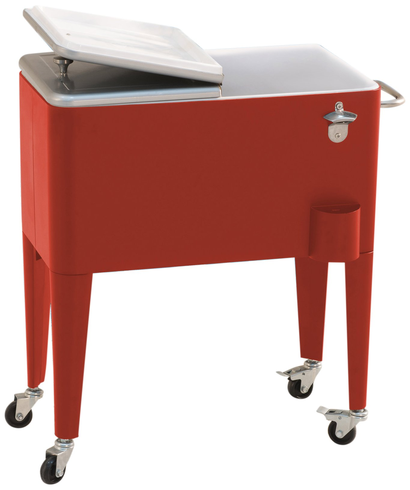 Sunjoy 60 quart Red Steel Beverage Cooler