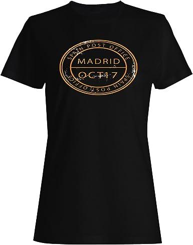 INNOGLEN Nuevo Sello De La Oficina De Correos De España Camiseta de Las Mujeres m253f: Amazon.es: Ropa y accesorios