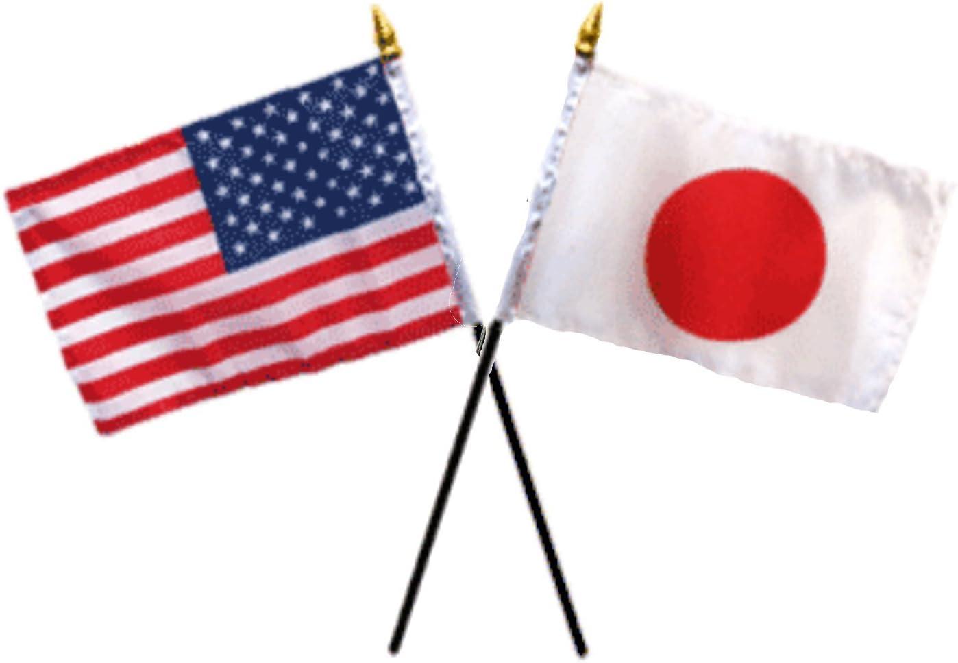 1 Flag No Base Solid Red 4x6 Desk Stick Flag