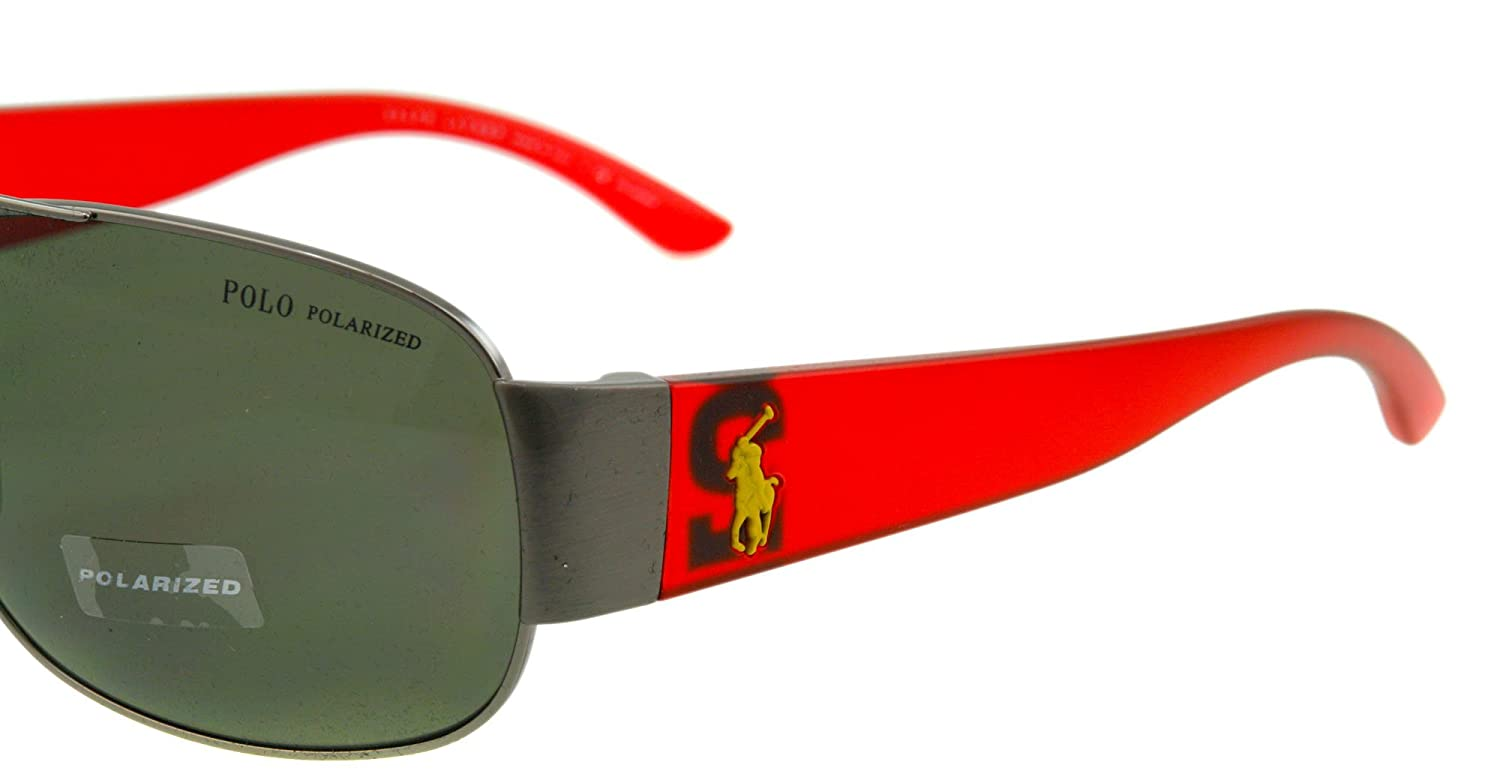 Amazon.com: Polo Ralph Lauren anteojos de sol PH 3063 Rojo ...
