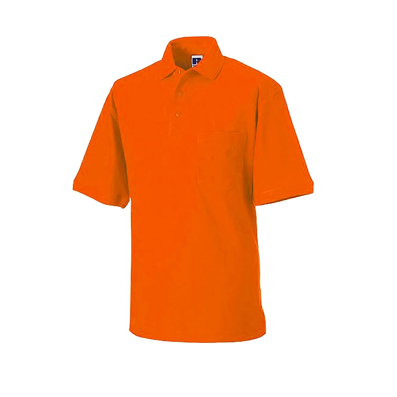 (ラッセル) Russell メンズ ヘビーデューティ 半袖ポロシャツ トップス ワークウェア 男性用 B00B69BHP6 XXXX-Large|オレンジ オレンジ XXXX-Large