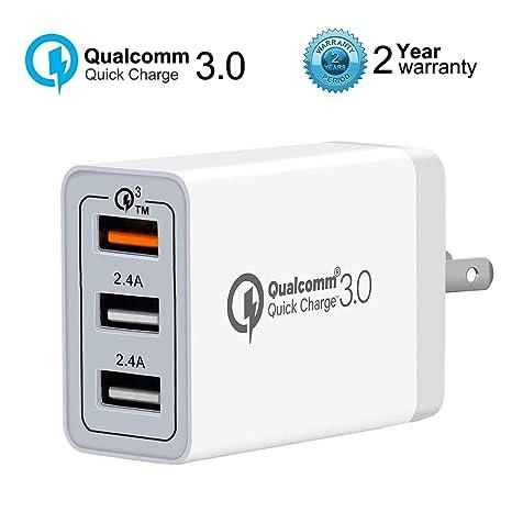 Amazon.com: Cargador de pared USB de carga rápida 3.0 (43,5 ...