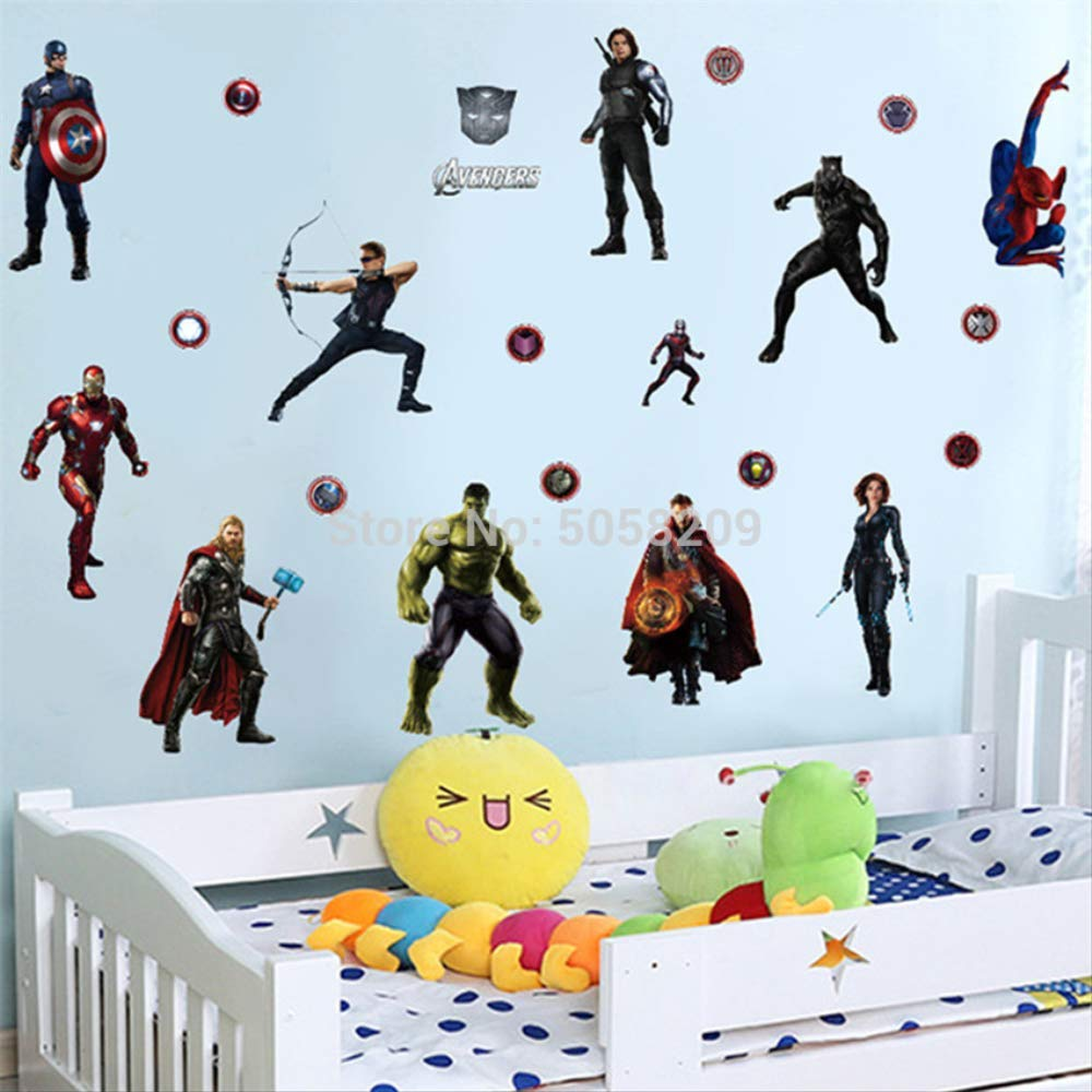 WYLD Pegatinas de pared The Avengers Anime Tatuajes de pared ...