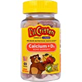 L'il Critters Calcium Gummy Bears With Vitamin D 60 Each (Pack of 3)