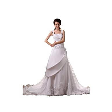 c9d091d43b8 LAURELMARY Women s Staps A Line Wedding Dress Color Ivory Size 22 ...