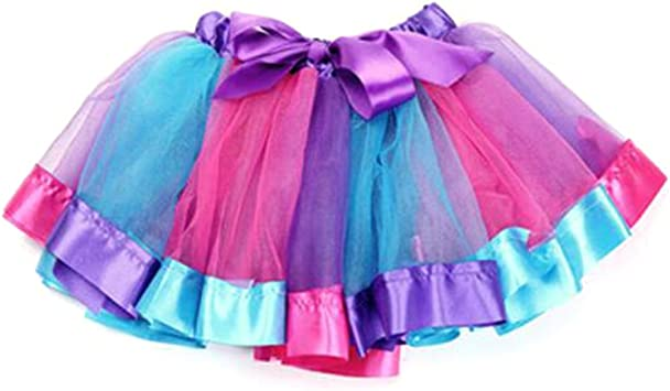 TopTie Falda Tutu Arco Iris En Capas Niña Vestido de Fiesta de la ...