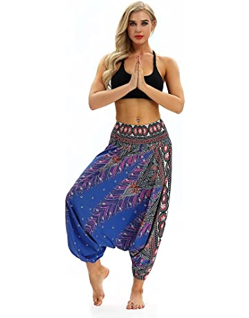 a40bd9f4bc BANAA Women's Trouser, Ladies Harem Pants Loose Casual Sweatpants Yoga  Trousers Baggy Boho Aladdin Jumpsuit