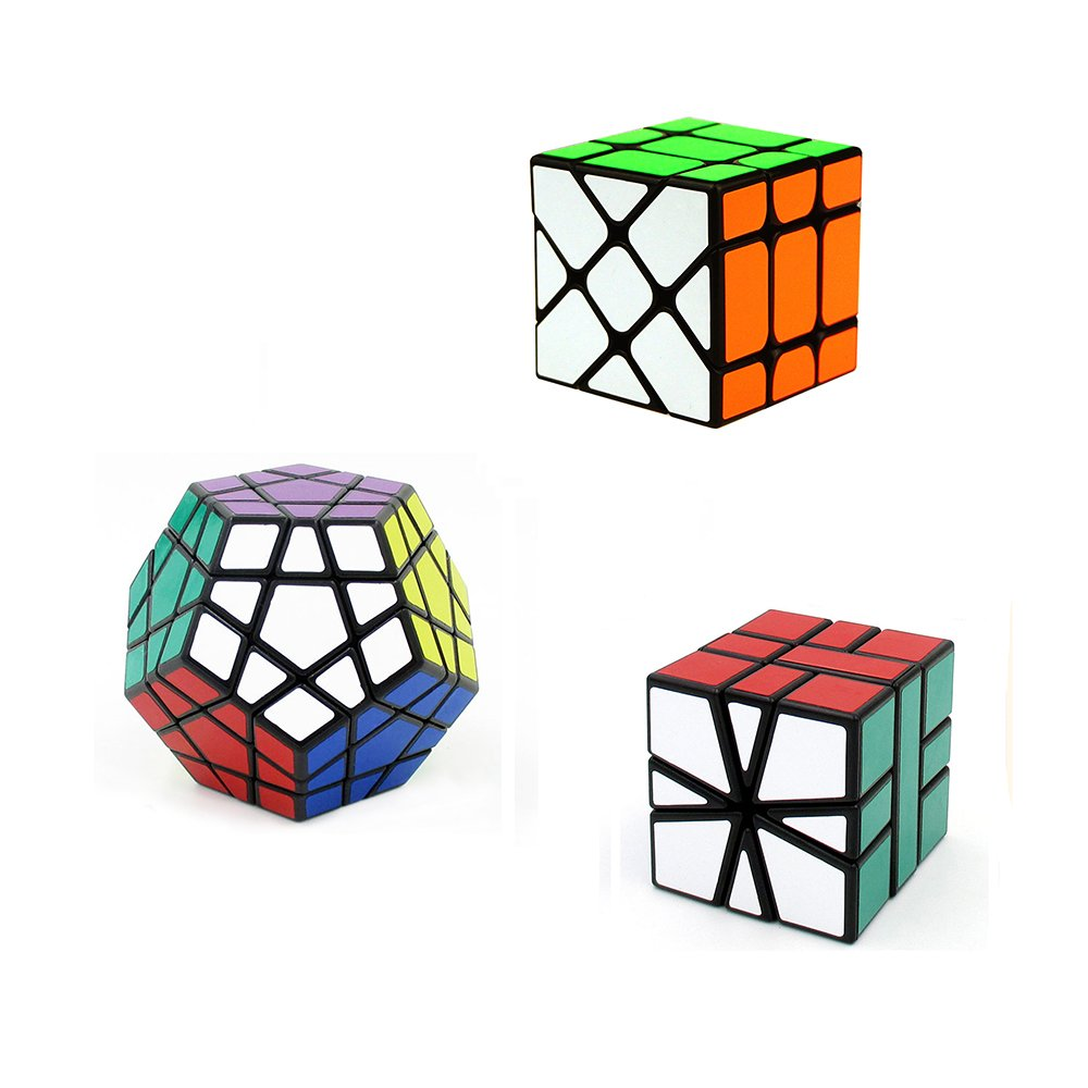 I-xun® Irregular Shape Magic Cube Pack & Puzzle Cube Pack (Pack of 3 Cubes)