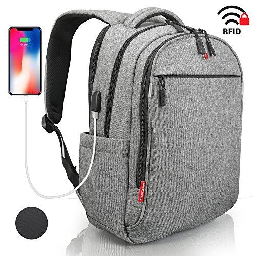 53b258c9a30b6 Laptop Rucksack Herren Damen mit RFID Schutz Anti Theft Backpack SWISS  Design Rucksack wasserdicht mit Regenschutz