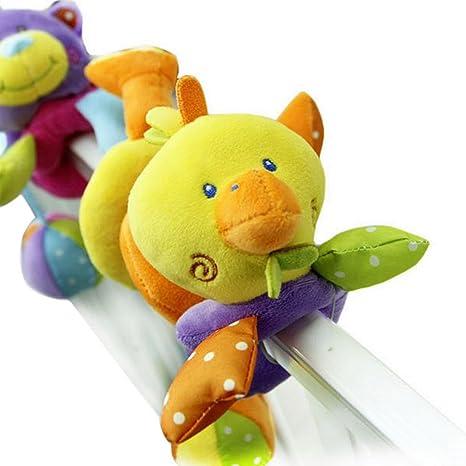 Happy Cherry - Juguete Colgante Espiral de Peluche Diseño Animal para Cuna  Cochecito para Bebés Niños c03d18427063