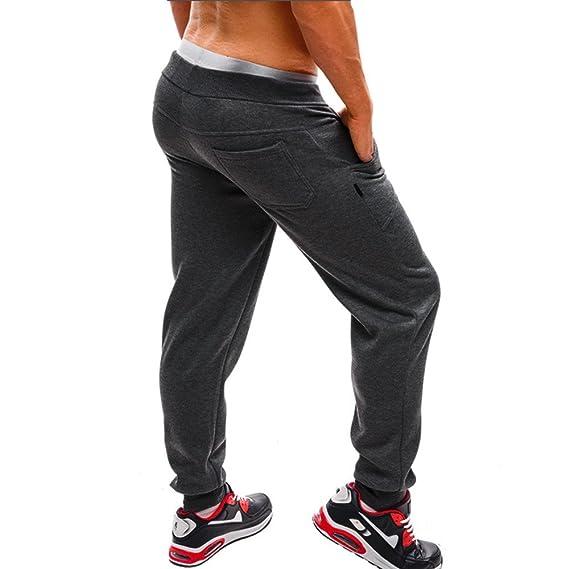Casuales Flojo Pantalones Largos para Hombre ZARLLE CordóN Jogger PantalóN EláSticos Deportivos Pants con Bolsillos Pantalones Largos Chandal Pantalones ...