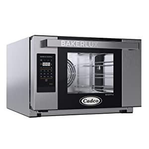 Cadco XAFT-03HS-GD Bakerlux GO Panel Heavy-Duty Countertop Convection Oven with Digital Controls, Stainless Steel/Black, NSF, 120v, Stainless/Black