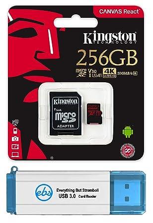 Amazon.com: Kingston 256GB SDXC Micro Canvas React Memory ...