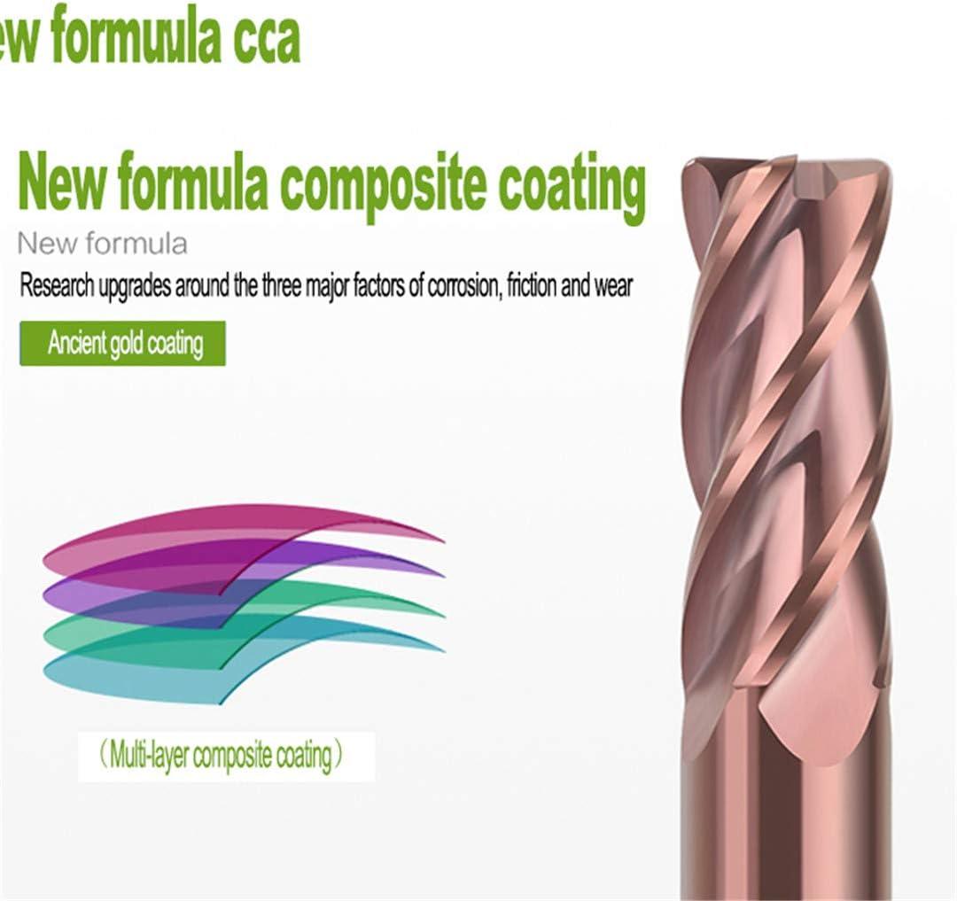 Thread Milling Cutters HRC55 4 Flute 1Mm 3Mm 6Mm Metal Tungsten Steel Spiral Tools Round Ball Nose Solid Carbide Endmills 10.0R0.5x4Tx75L 6.0r1.0x4tx50l